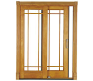 Sliding french door