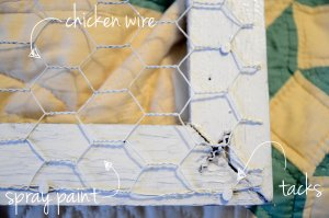 window frame chicken wire diy